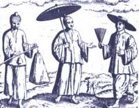 Three Chinese merchants at Banten