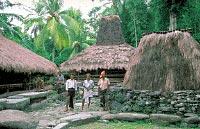 A marapu spirit house in the village of Gallu, West Sumba
