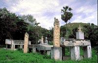 Stone graves and sculpture menhir (penji) of the Raja of Pau Uemabara, East Sumba