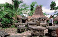 Stone tombs in the village of Bondo Maroto, West Sumba