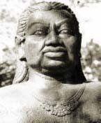 A statue of Gajah Madah from the 1300's
