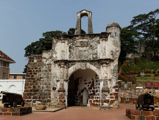 A Famosa, remnant of the Portuguese fortress