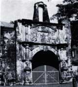 The gate to the Portuguese fortress at Melaka