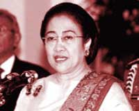 Megawati Sukarnoputri, fifth President of the Republic of Indonesia