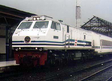 The Argo Bromo Anggrek at Semarang Tawang station
