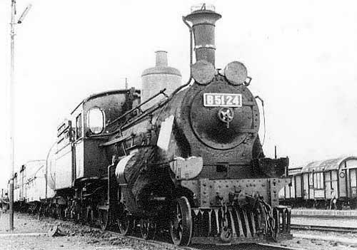 Steam locomotive. B5124