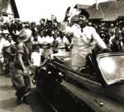 Sukarno returns to Jakarta, December 1949