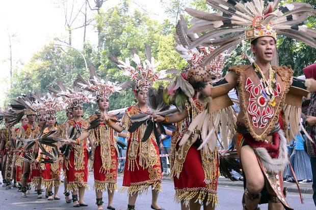 Dayak dance performance.