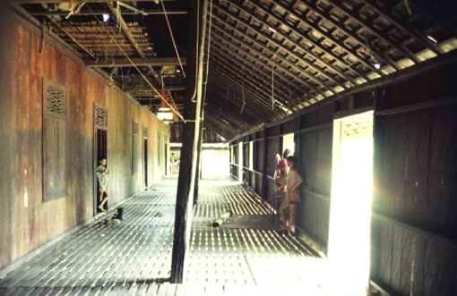 East Kalimantan longhouse interior