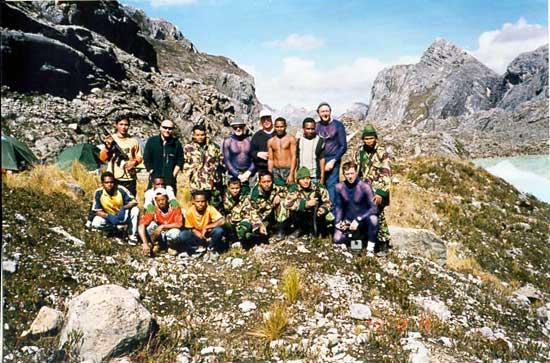 A gathering below base camp.