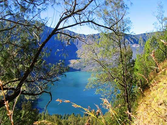 View of Danau Segara Anakan