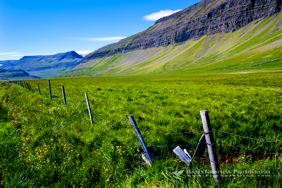 Laxardal valley on northern Iceland.