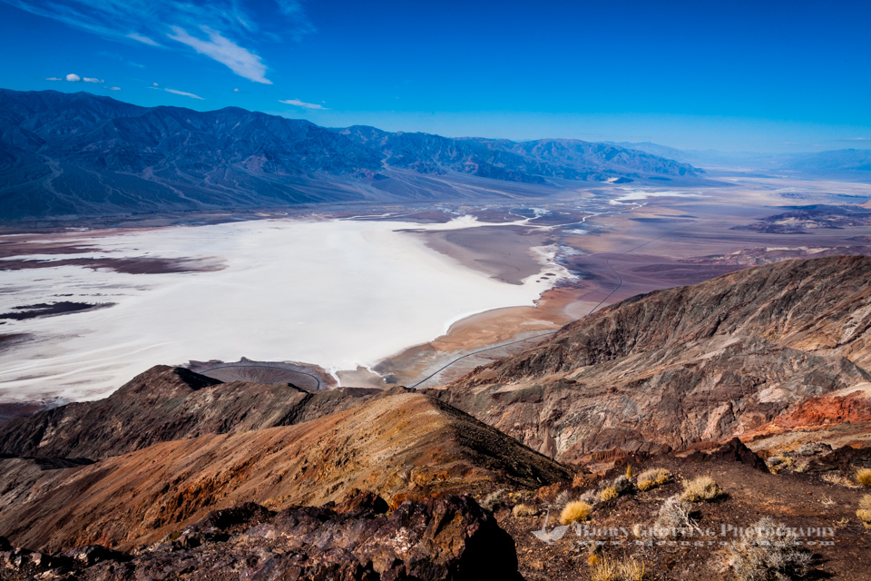 United States, California, Death Valley. From Dante's View 5,500 feet (1,700 m) above sea level. Central part of Death Valley.