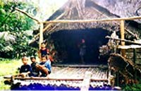 Children posing in front of the Uma