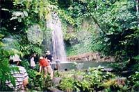Hiking to a beautiful waterfall